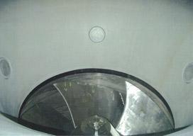循環水ポンプに設置した白金チタン電極